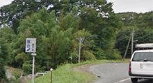 揖斐方面北進方向 左手『落合』の看板側道を降りる