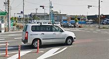 『楽田町』の交差点を神戸方面へ北進